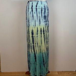 Lily Lotus Tie Dye Maxi Skirt